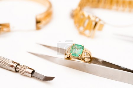 Photo for Workshop manufacture and repair of jewelry - Royalty Free Image