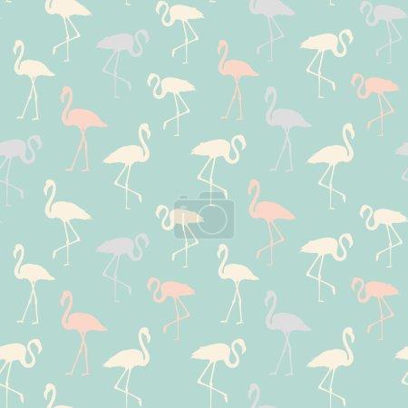 Tropical birds seamless pattern.