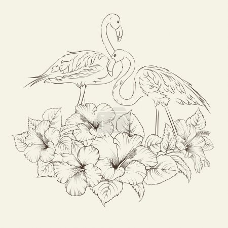 Flamingo background design.