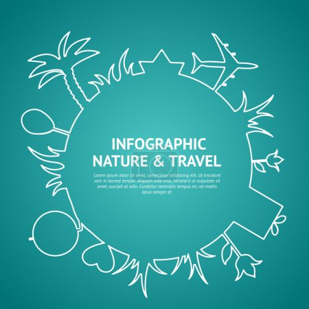 Illustration for Travel and tourism background and infographic. Vector illustration. - Royalty Free Image