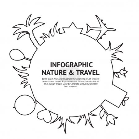 Illustration for Travel and tourism infographic background. Vector illustration. - Royalty Free Image