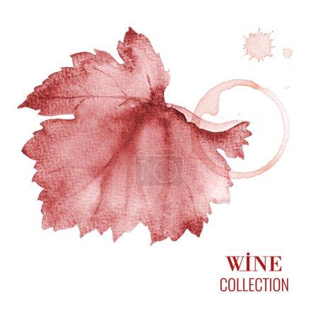 Illustration pour Concept design pour une carte des vins. Ilustration vectorielle - image libre de droit