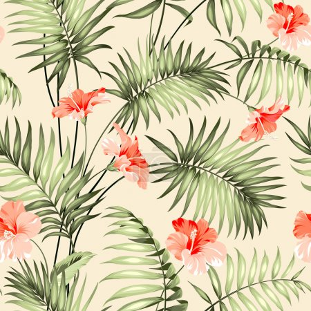 Seamless pattern of a palm.