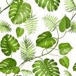 Tropical leaves design for fabric swatch. Vector i...