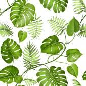 Tropical leaves design