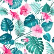 Blossom flowers for seamless pattern background. V...