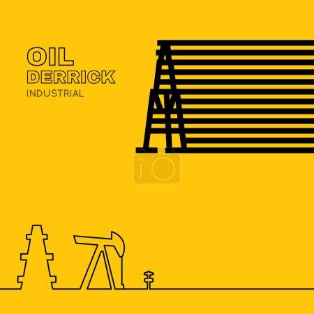 Oil rig icon.