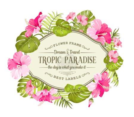 Beautiful tropic card.
