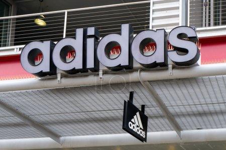 Adidas Retail Store and Logo