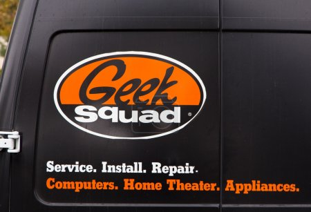 Geek Squad Logo on Vehicle