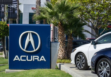 Acura Automobile Dealership Sign and