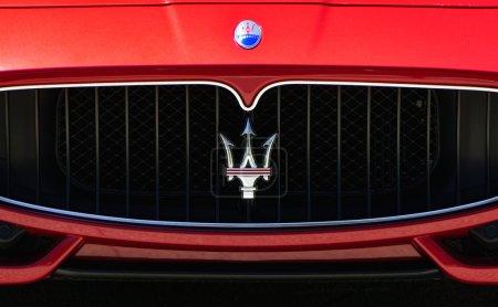 Maserati Dealership Sign and Logo