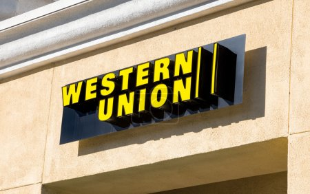 ARCADIA, CA/USA - NOVEMBER 22, 2015: Western Union...