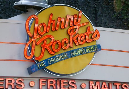 Johnny Rockets Restaurant Exterior and