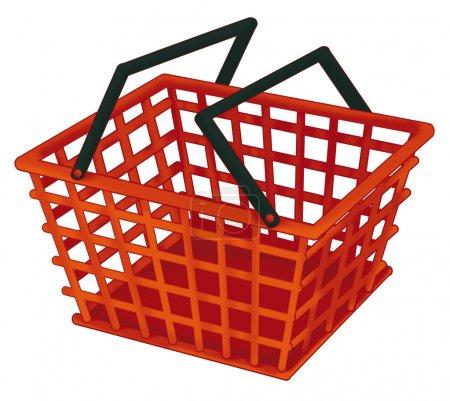 Cartoon shop basket - isolated