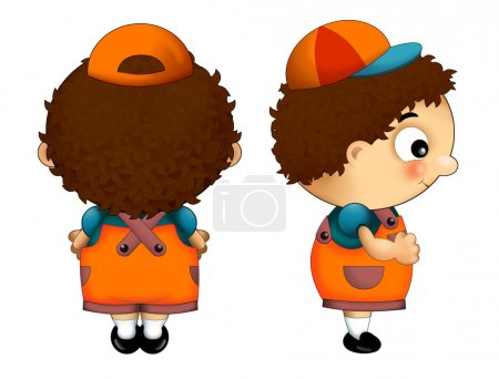 Photo for Cartoon character - little boy - isolated - game or book model - Royalty Free Image