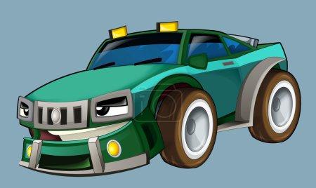 Cartoon fast car
