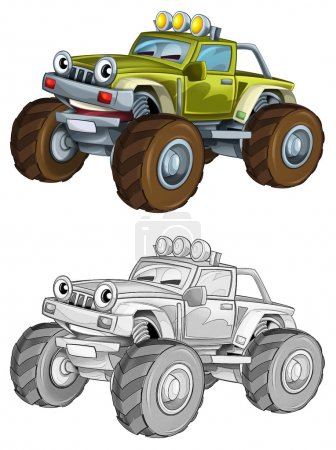 Coloring page - car