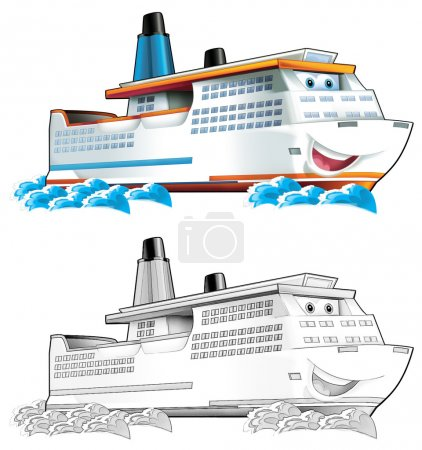Coloring page - boat