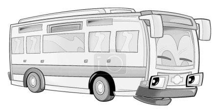 Photo pour Coloriage - bus - illustration pour les enfants - image libre de droit