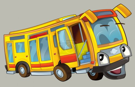Photo pour Cartoon bus - illustration pour les enfants - image libre de droit