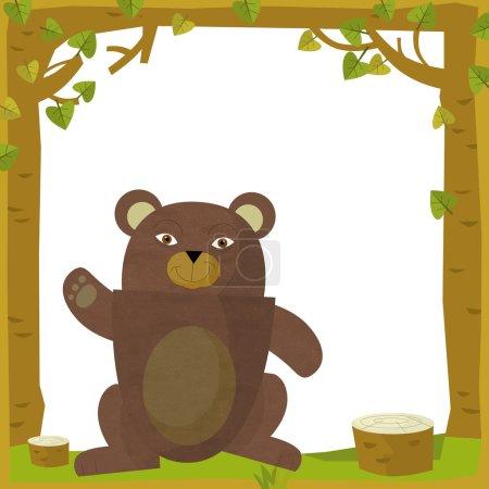 Bear in Cartoon frame
