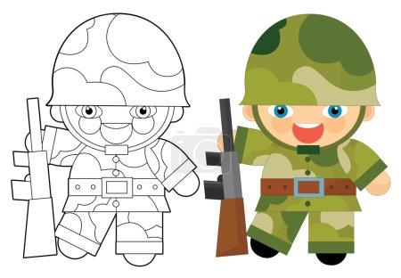 Cartoon character - soldier
