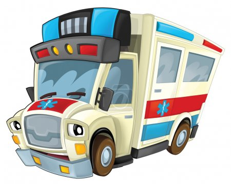Cartoon ambulance illustration
