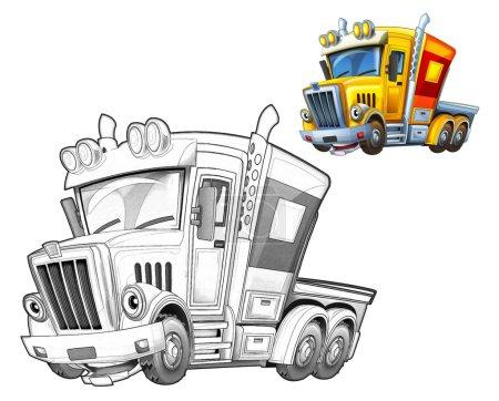 Cartoon truck - caricature