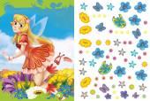 Cartoon fairy princess - sticker page