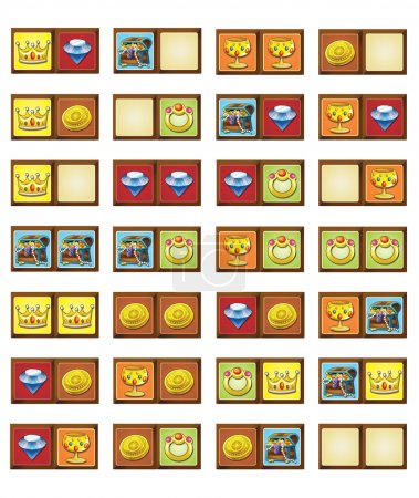 Cartoon game illustration