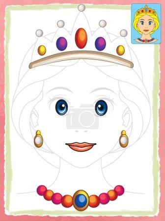 Cartoon woman - face