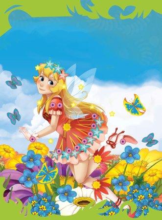 Cartoon fairy princess