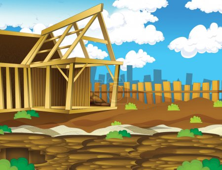 Cartoon construction background