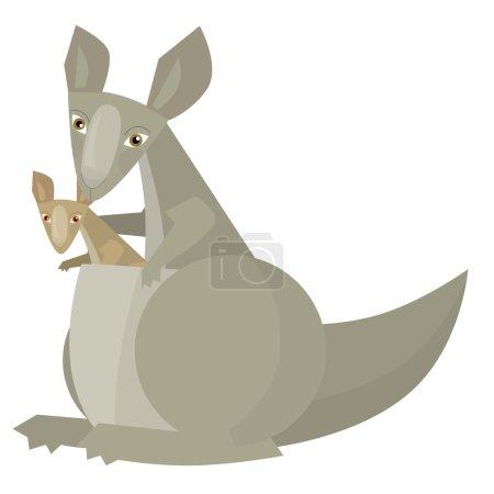 Cartoon frame scene - kangaroo