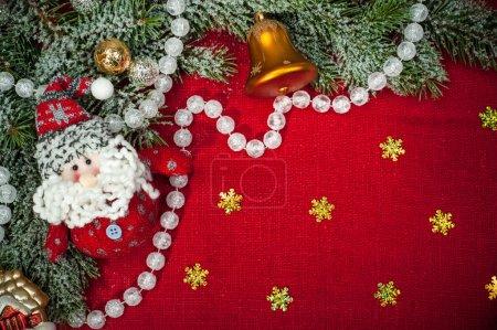 Photo pour Noël avec des décorations et des jouets - image libre de droit