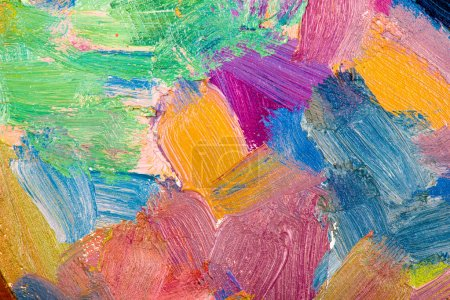 Foto de Pintura al óleo abstracta pinceladas closeup - Imagen libre de derechos
