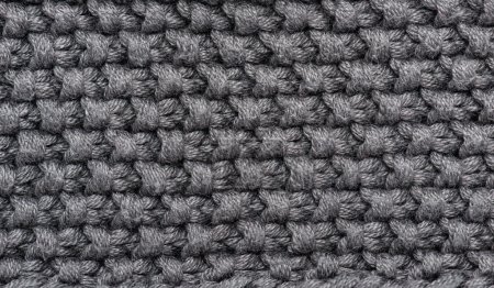 Photo for Grey knitted wool macro photo - Royalty Free Image