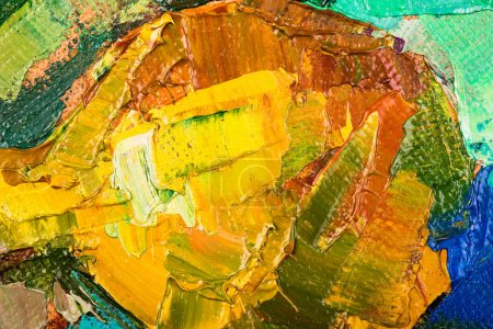 Photo for Oil painting abstract brushstrokes closeup - Royalty Free Image