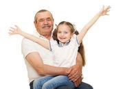 Dědeček a vnuky portrétní studio pro natáčení