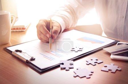 Photo pour Concept d'entreprise, finance, marketing . - image libre de droit
