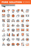 Set of thin line web icons for hotel services and facilities