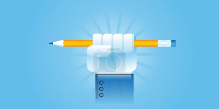 Photo pour Bannière de site Web de conception de ligne plate pour le pouvoir de l'éducation. Illustration vectorielle moderne pour la conception web, le marketing et l'impression . - image libre de droit