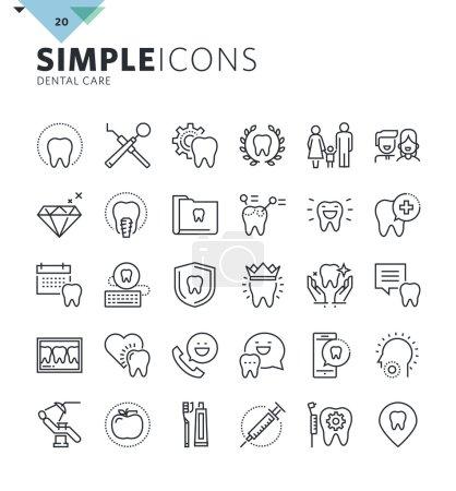 Illustration pour Premium collection de symboles de contour de qualité pour le web et la conception graphique, application mobile. Pictogrammes, infographies et éléments web mono-linéaires - image libre de droit