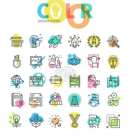 Illustration for Modern design icons for web and app design and development. - Royalty Free Image