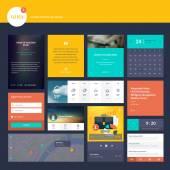 Flat design elements for web design and app development