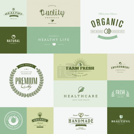 Set of modern flat design nature icons for healthc...