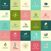Sada plochý design ikon krásy a přírody
