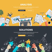 Flat design illustration concepts for business analysis strategy and planning finance consulting management team work project management brainstorming research and development