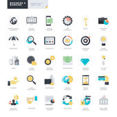 Set of flat design vector icons for business and banking